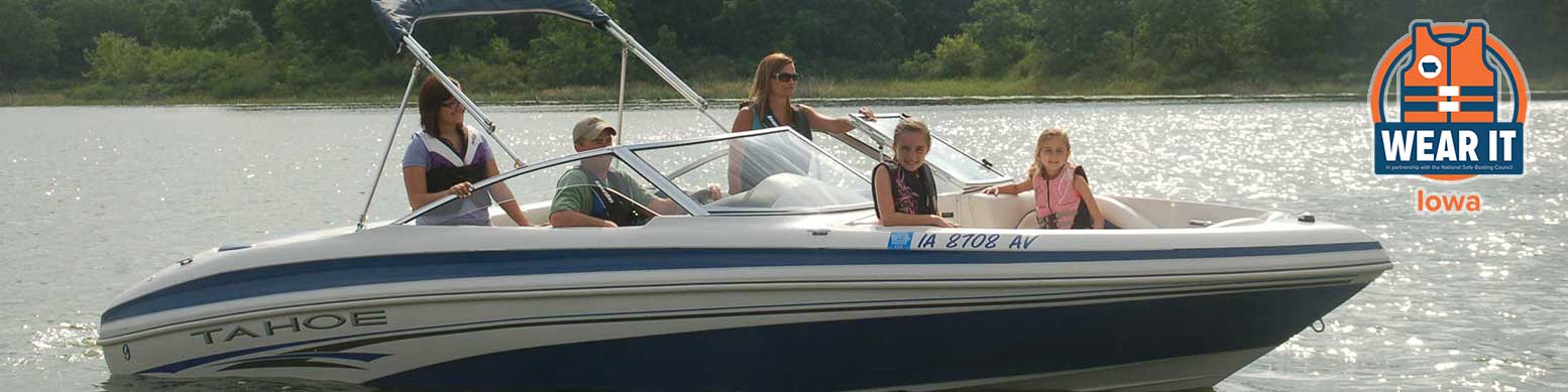 wear your lifejacket when boating