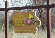 Boone Wildlife Research Station Sign