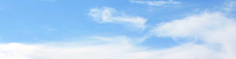 blue sky with a few wispy clouds