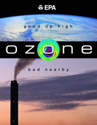 EPA's Ozone, good up high, bad nearby graphic