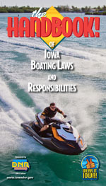 Cover of the Iowa Boating Regulations handbook