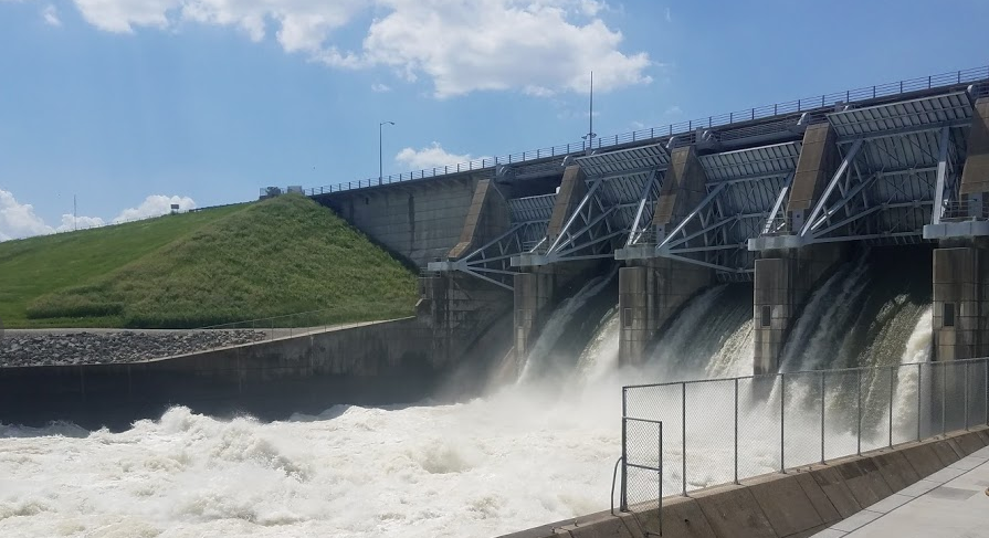 Tailwater of Red Rock Dam