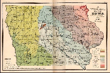 1907 Geological Map of Iowa