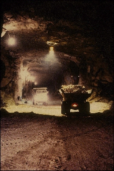 Peter Sandstone inside of the Pattison mine near Clayton