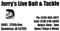 Jerry's Live Bait & Tackle Logo
