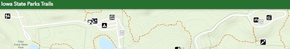 screenshot of trail map