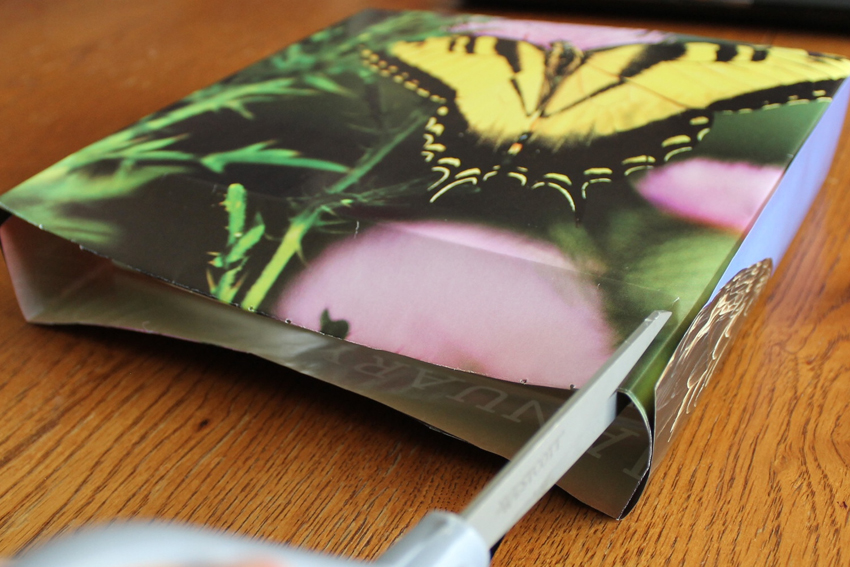 DIY upcycled magazine gift bag tutorial from the Iowa DNR