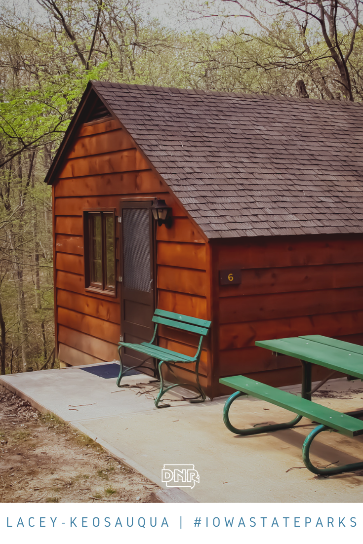 Stay in a cozy cabin at Lacey-Keosauqua State Park  |  Iowa DNR