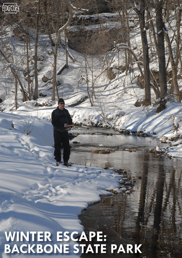 Explore Iowa's oldest state park, Backbone, for a perfect winter getaway (cabins, fishing, hiking, sledding and more!) | Iowa Outdoors magazine