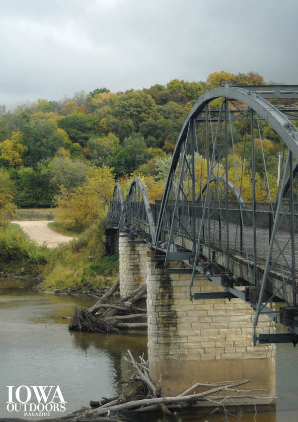 The historic Hale Bridge was moved from its rural home to Wapsipinicon State Park in 2006 | Iowa DNR