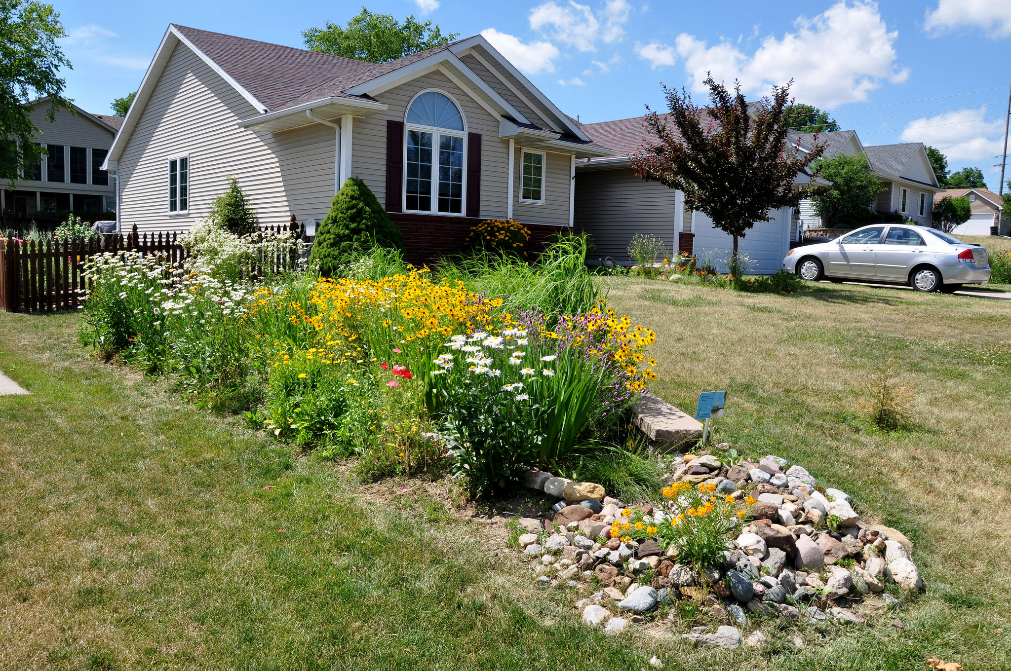Rain gardens are one way Iowans help soak up and filter rain water - all while beautifying their lawns | Iowa DNR