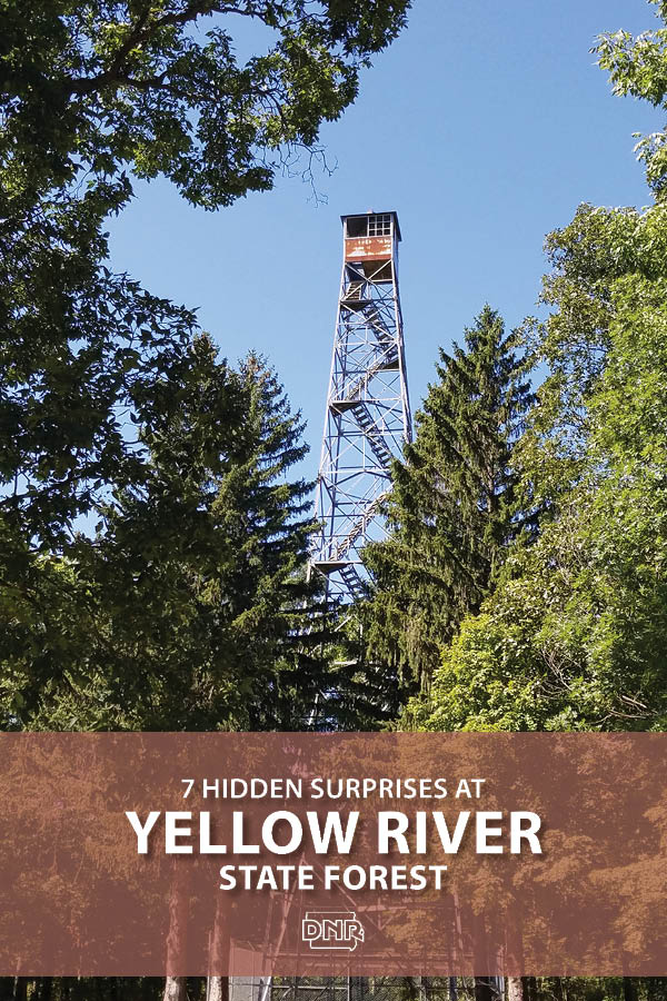 Poking out above the skyline of the mature oak and hickory forest, the tower stands just about 10 stories tall and was a gift to Iowa from the federal forest service in 1963. 6 other hidden surprises at Yellow River State Forest | Iowa DNR