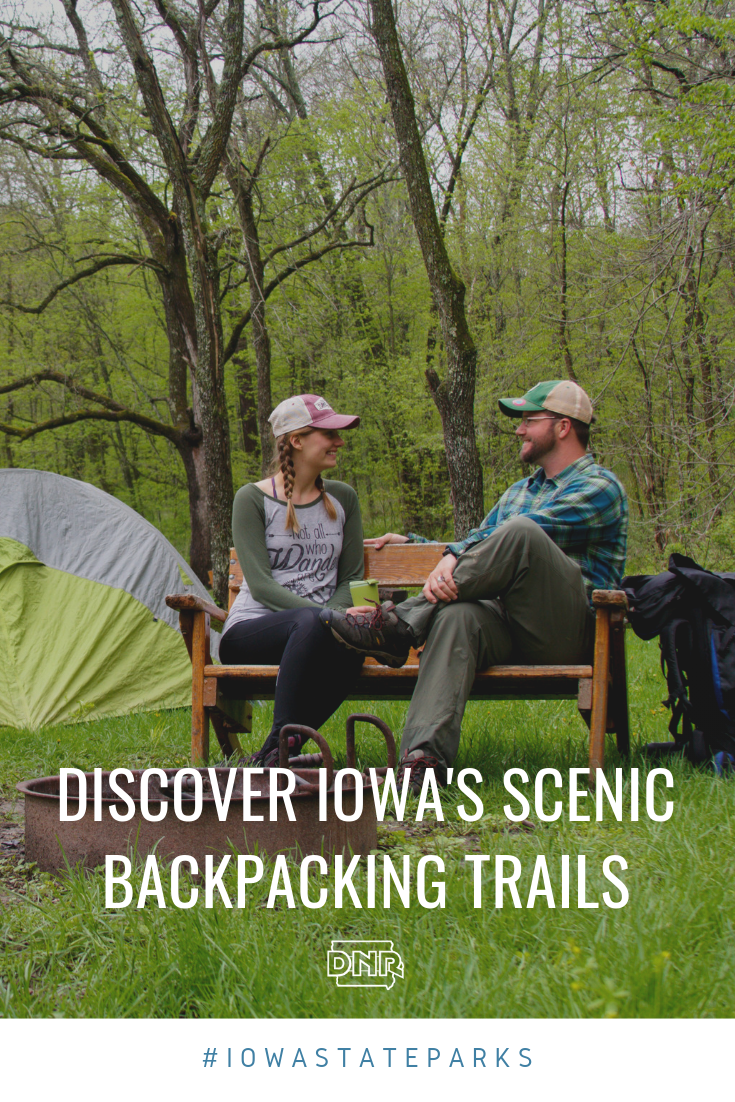 For those not in the know, it seems easy to dismiss Iowa simply as the tall corn state; however, those taking a closer look may be surprised to discover Iowa's state forests offer ultra-quiet, serene and scenic backpacking campsites. |  Iowa DNR