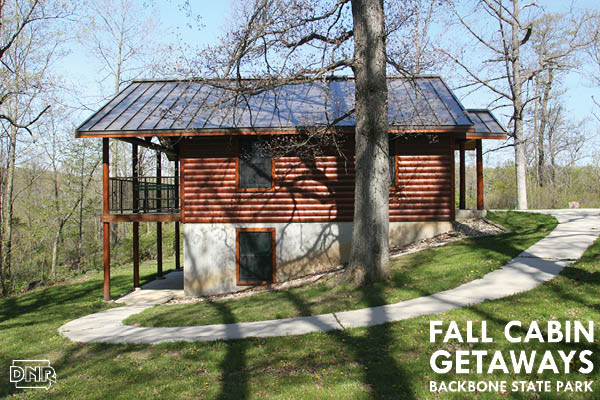 A cabin at Backbone State Park is a perfect fall getaway | Iowa DNR