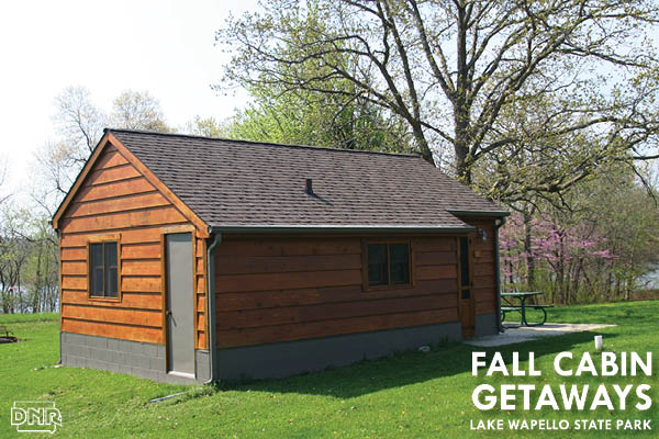 Make a fall getaway to a cabin at Lake Wapello State Park | Iowa DNR