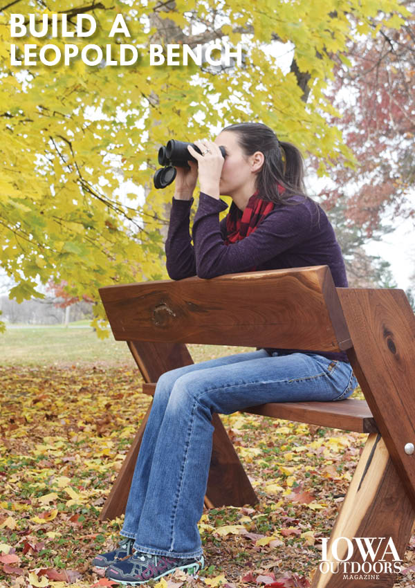 Plans to build your own Leopold bench for birdwatching and nature photography | Iowa DNR