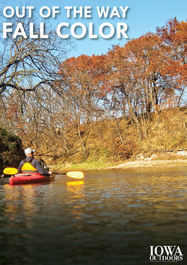 Out of the way fall color dnr news releases for Iowa out of state fishing license