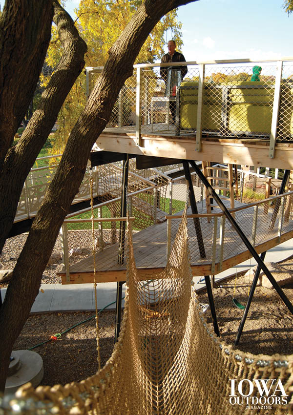 You don't have to be a kid to have a treehouse! Know what to consider to protect the health and safety of your trees and hideout | Iowa Outdoors magazine