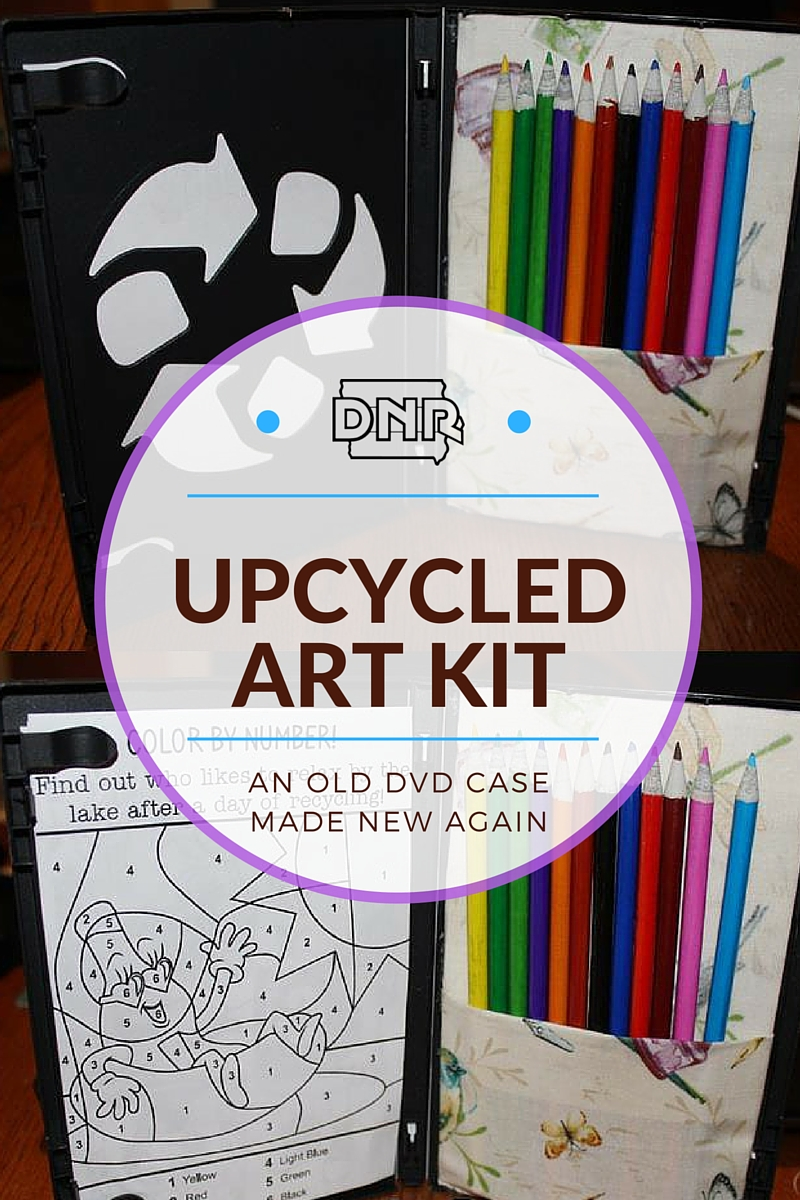Create your own upcycled art kit with an old DVD case | Iowa DNR