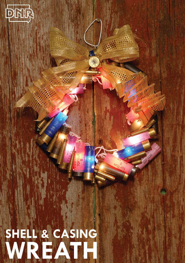 Upcycled DIY shotgun shell and casing wreath instructions from Iowa Outdoors magazine