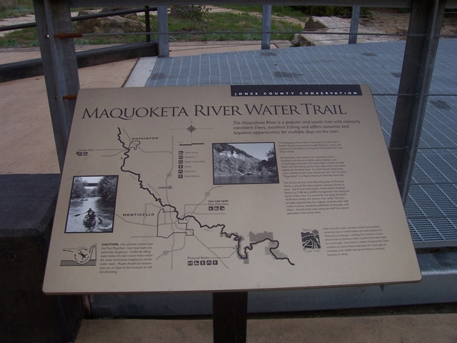 kiosk on the Maquoketa River in Jones County