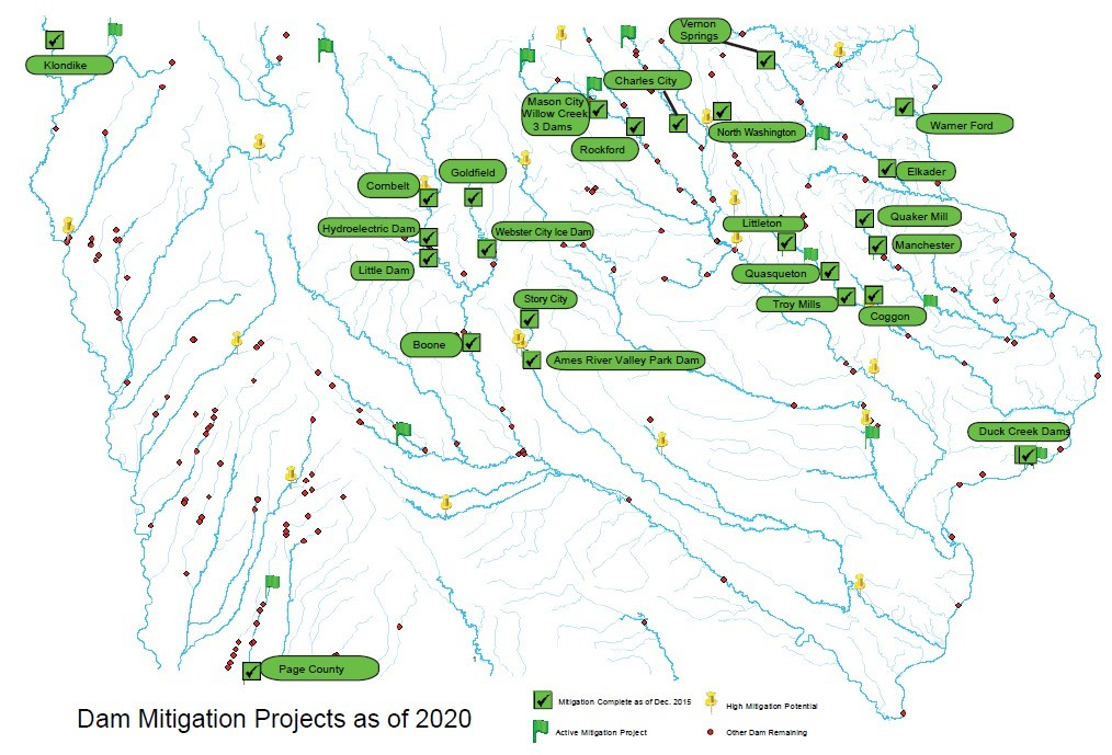 Dam Mitigation Map, for more information click on the pdf file above