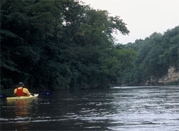 paddling the Boone River