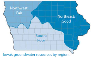Iowa groundwater resources by region