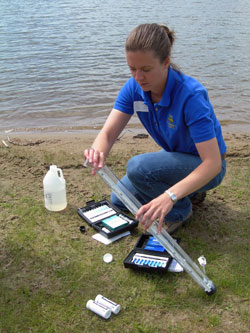 Water monitoring at Union Grove Lake.