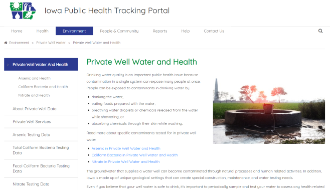 IDPH Private Well Water Sample Tracking Portal