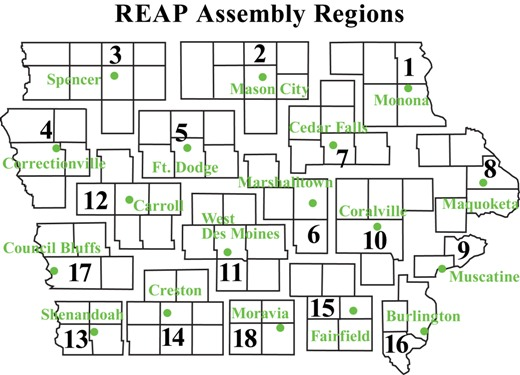 REAP Assembly Regions