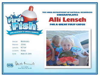 First Fish Certificate