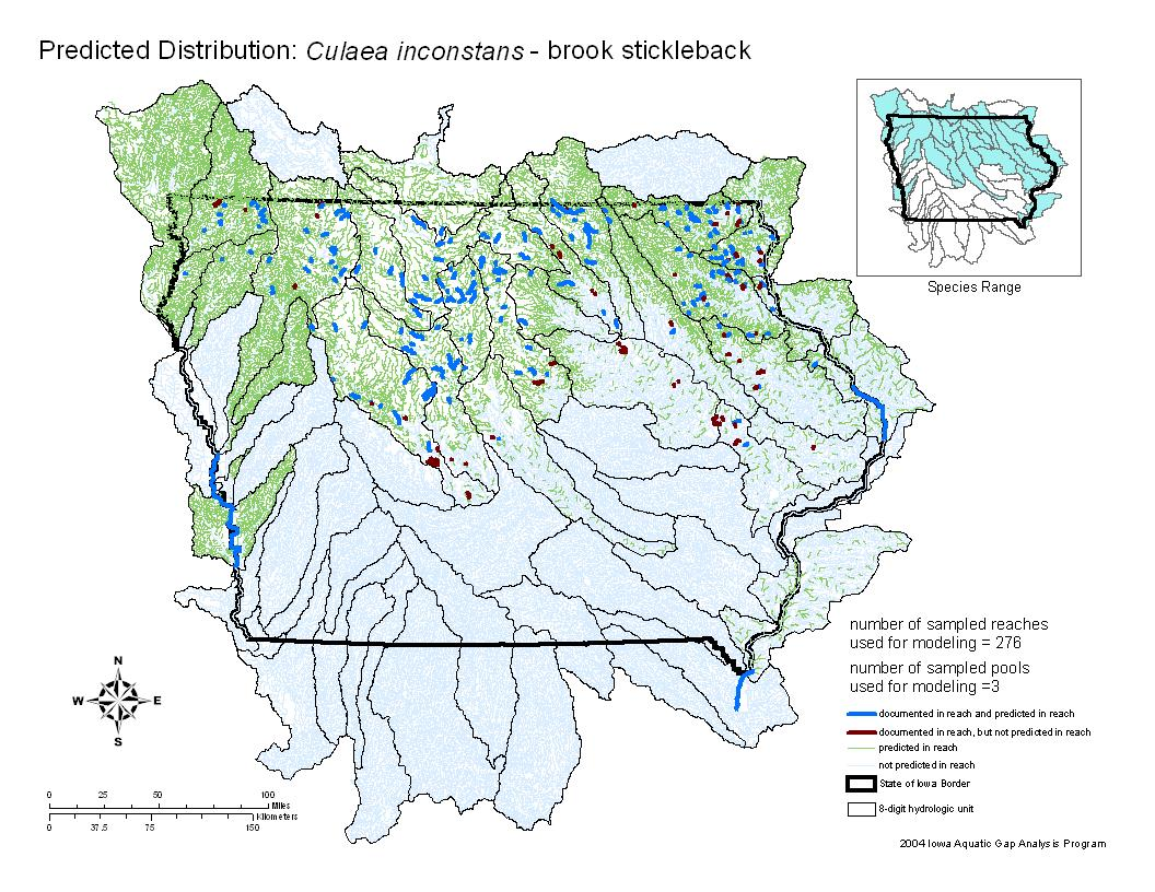 Brook Stickleback Distribution