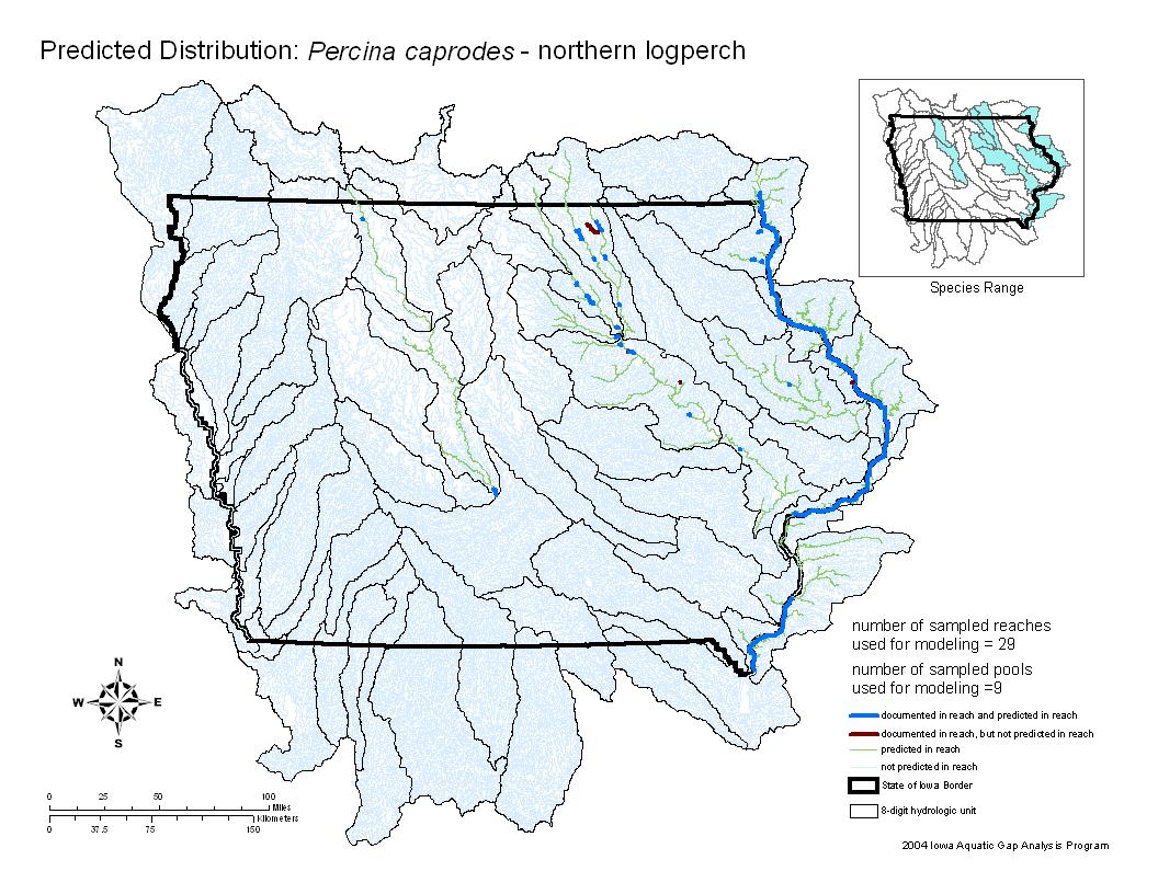 Northern Logperch Distribution