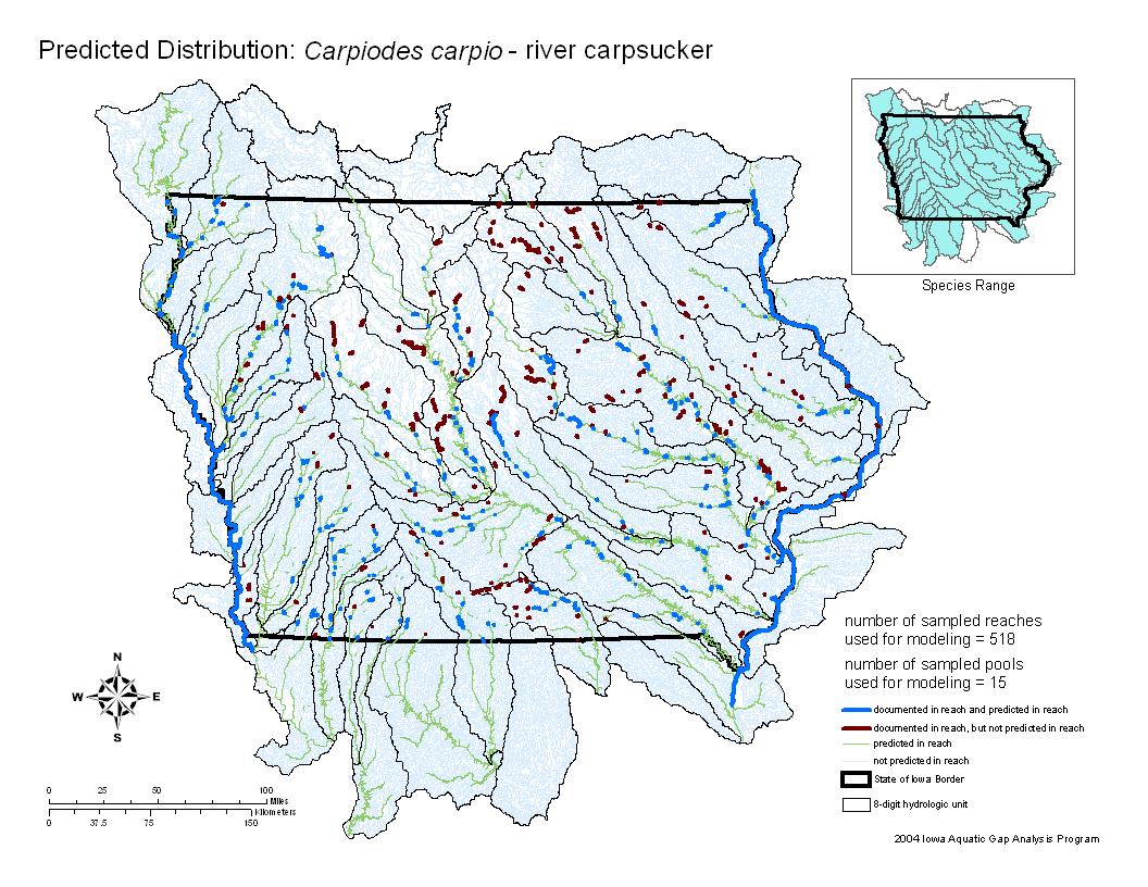 River carpsucker Distribution