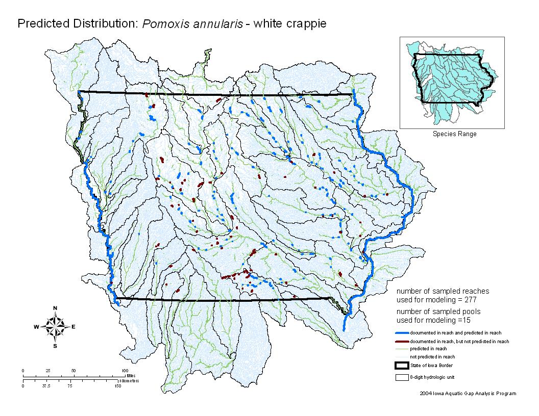 White crappie Distribution