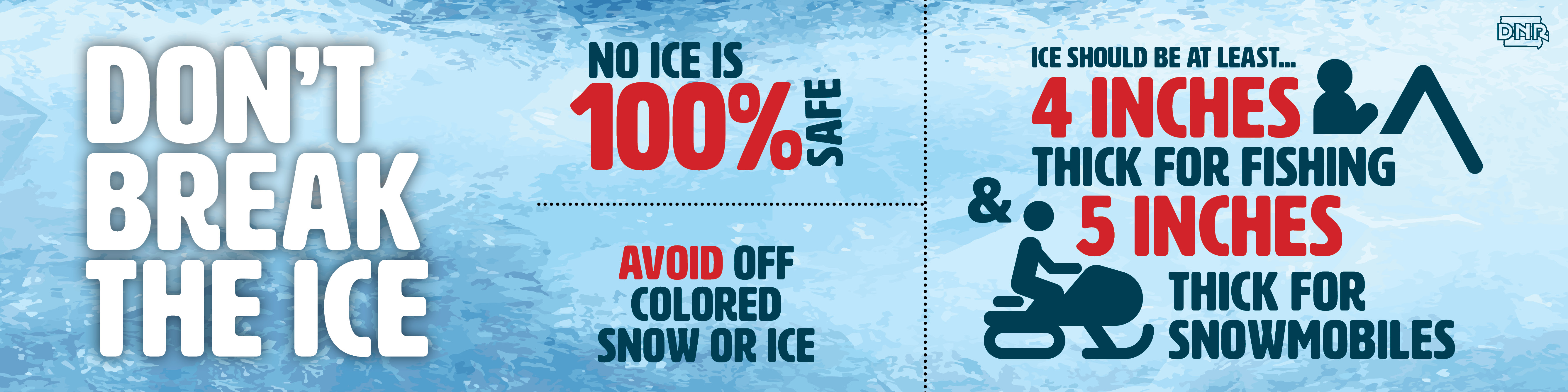 Be careful as no ice is 100% safe
