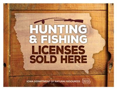 License vendors iowa dnr for Iowa fishing regulations