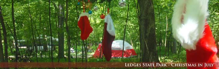 Ledges State Park, Christmas in July