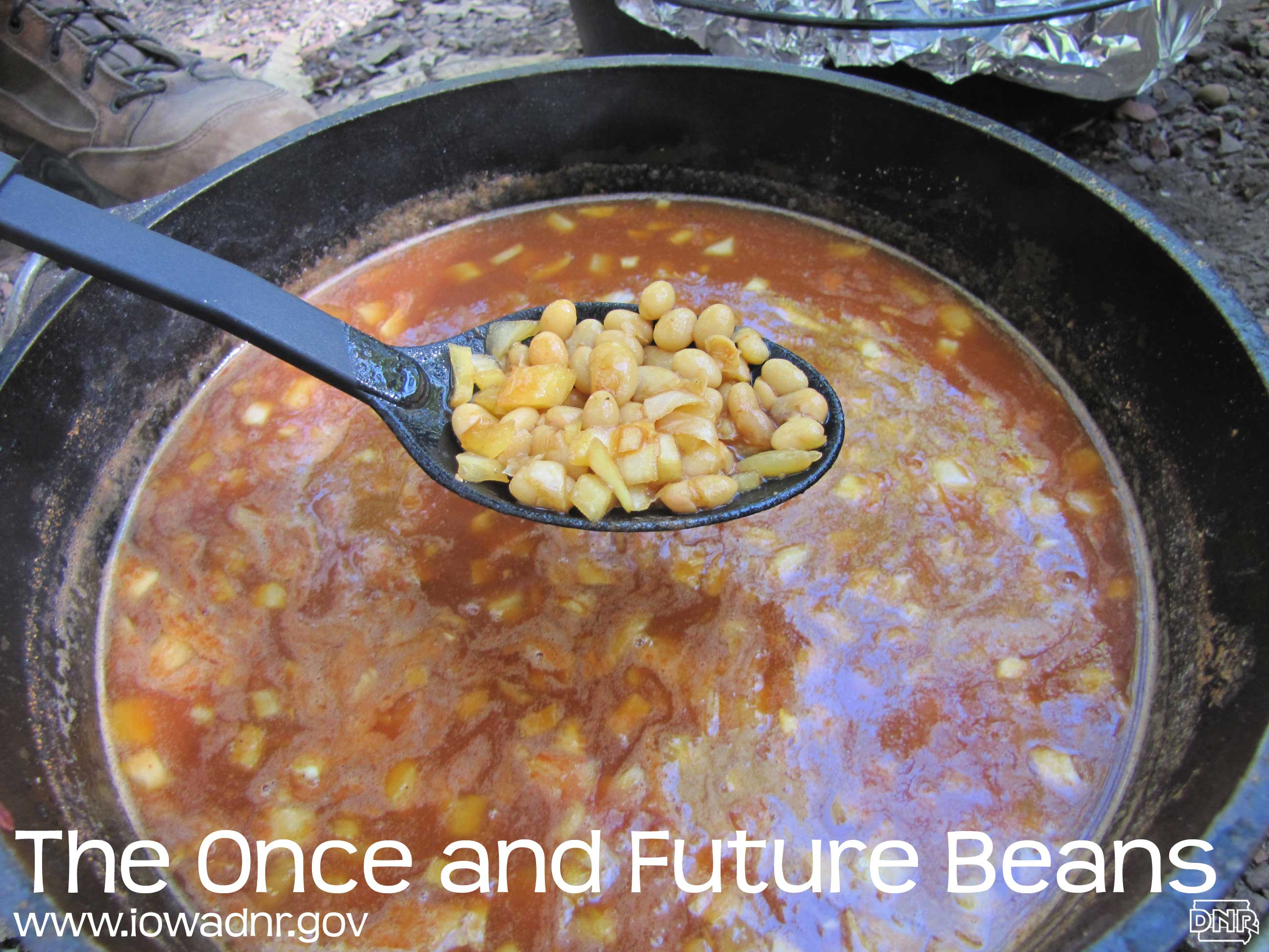 Dutch oven recipes from the Iowa DNR: The Once and Future Beans
