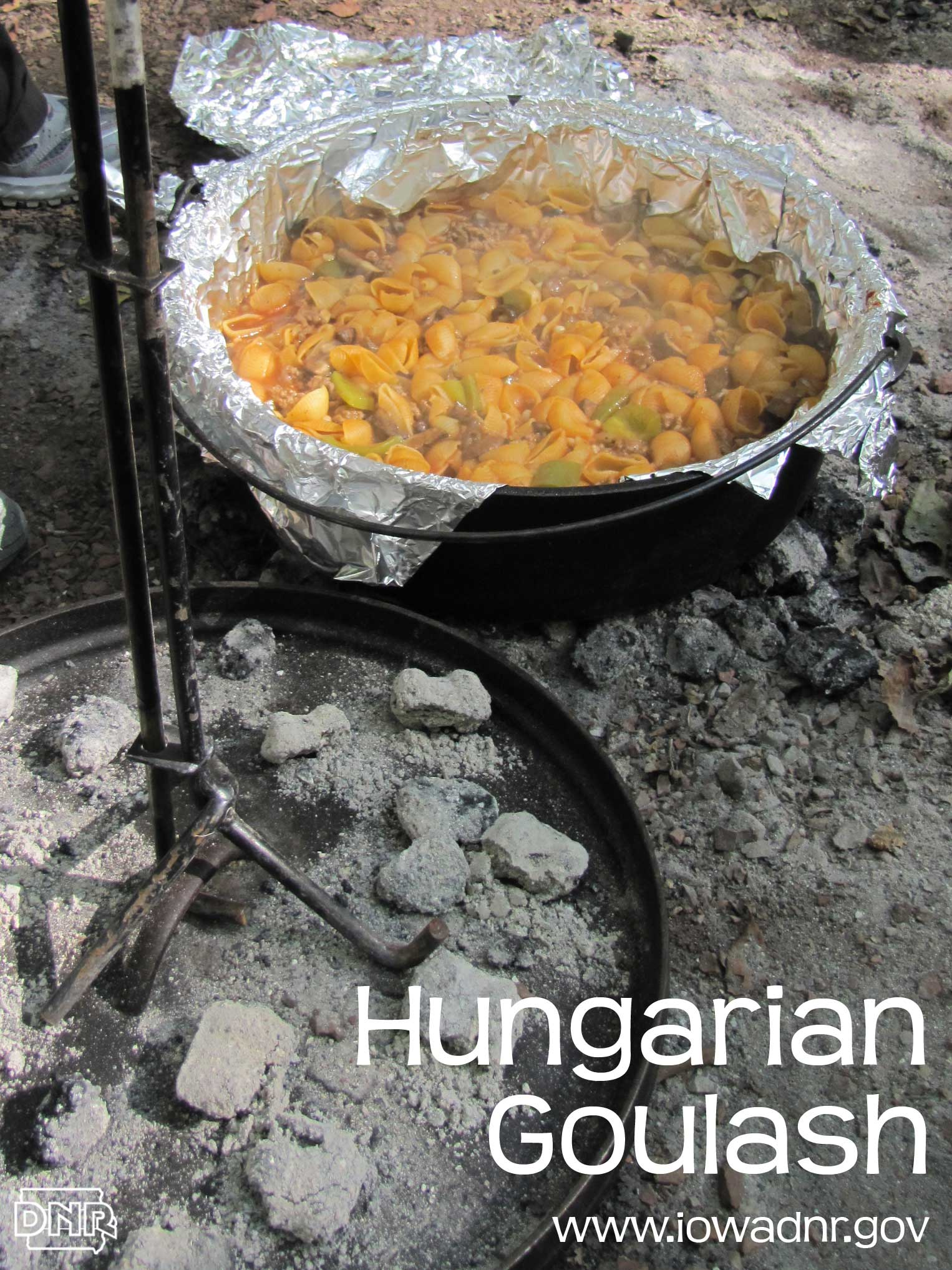 Recipe for Dutch oven Hungarian goulash from the Iowa DNR