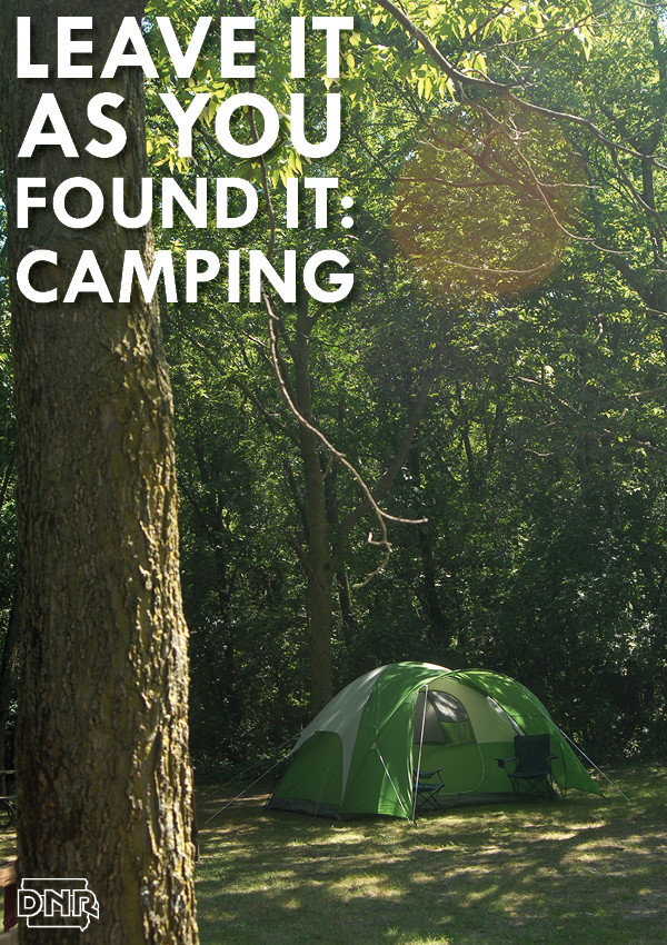 Leave it as you found it: 6 tips to keep your campsite clean and better than how you found it | Iowa DNR