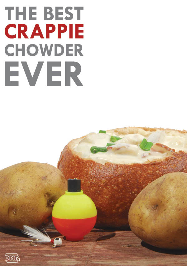 The Best Crappie Chowder Ever! Recipe from Iowa Outdoors - plus lots of other great wild recipes | Iowa DNR