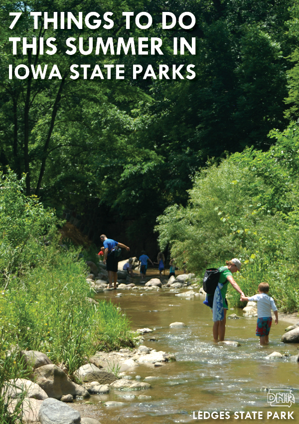 Did you know you could spelunk in Iowa? Or try trout fishing, watch the sunrise from your campsite over the Mississippi River - so many ideas! | Iowa DNR