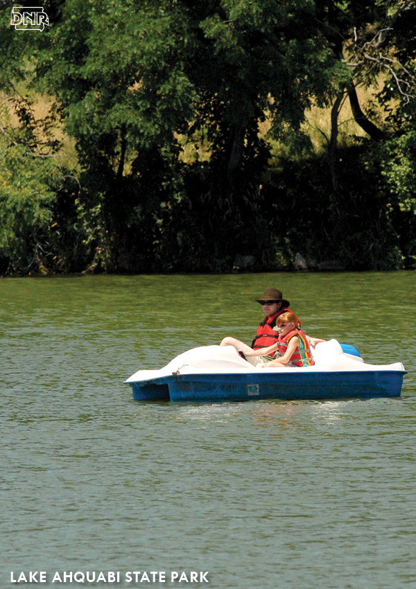 Go paddleboating, kayaking or canoeing - or maybe try some fishing or swimming - at Lake Ahquabi State Park | Iowa DNR