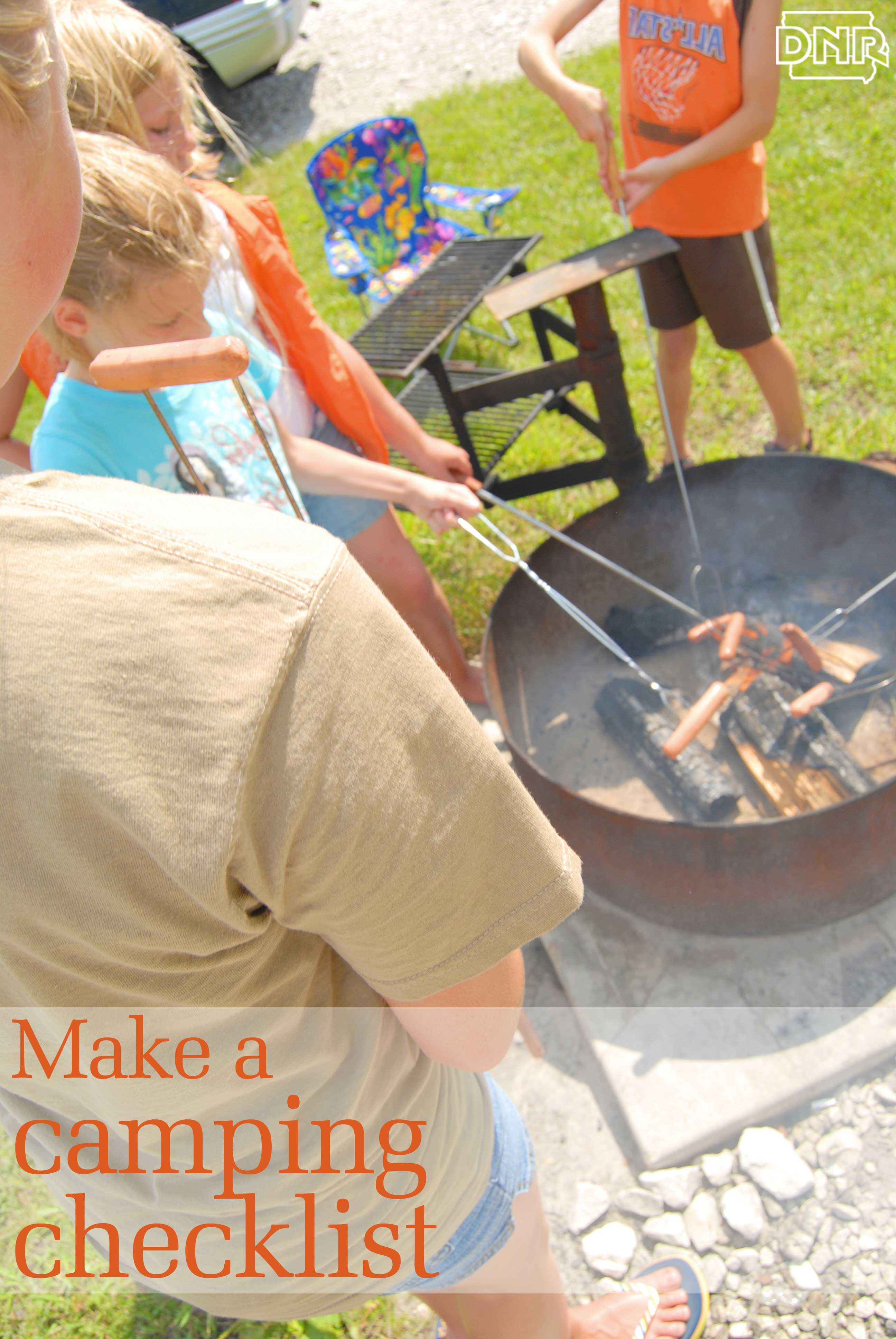 make a camping checklist