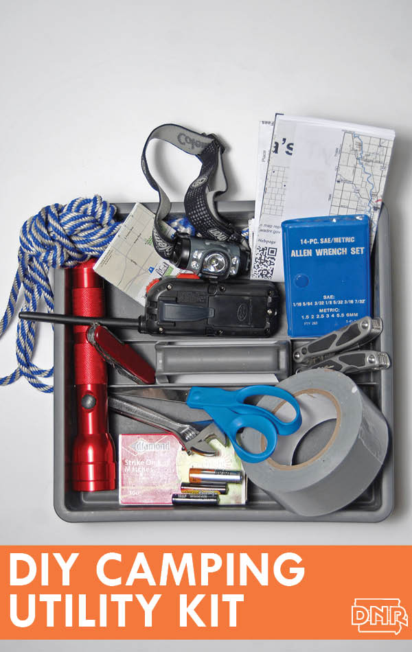 DIY Campiing Utility Kit from the Iowa DNR