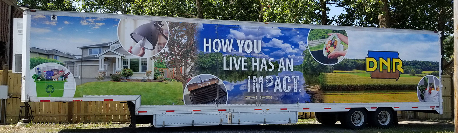 Photo of the DNR Mobile Education Trailer