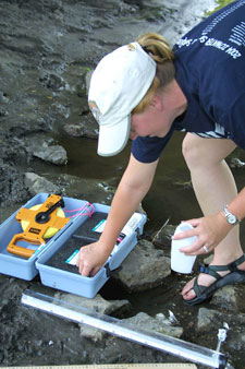 Volunteer water monitoring can be a part of assessing the watershed.