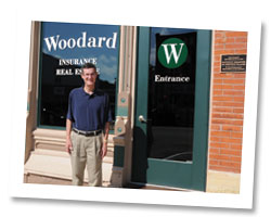 Dick Woodard installed a rain garden, rain barrel and pervious pavers at his West Union business.
